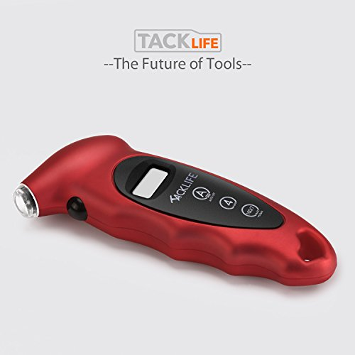 Tacklife TG01 Classic Digital Tyre Pressure Gauge With Backlight LCD Display 100 PSI | 7 Bar Tyre Air Pressure Gauge Tester Tool for Cars & Motorcycles with Schrader Valves