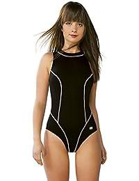 Gwinner Badenzug Sportbadeanzug Trainingsanzug für Damen, ideal für Sport- und Leistungschwimmen, sehr bequem und elastisch, aus hochwertigem Material made in EU Otylia