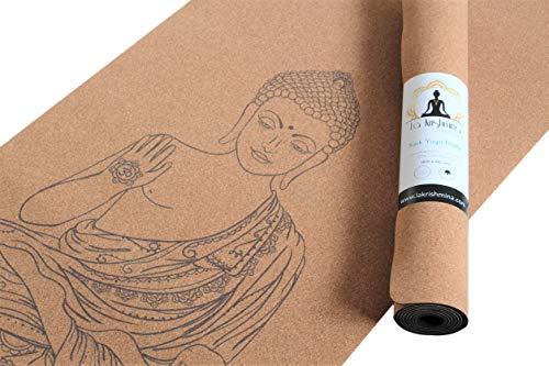Yoga Matte Buddha - Yogamatte aus Kork und Naturkautschuk -...