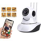 Cámara Inteligente inalámbrica 1080P, cámara de vigilancia de Seguridad para el hogar con WiFi para bebés/Ancianos/Mascotas/niñeras, Audio bidireccional y visión Nocturna