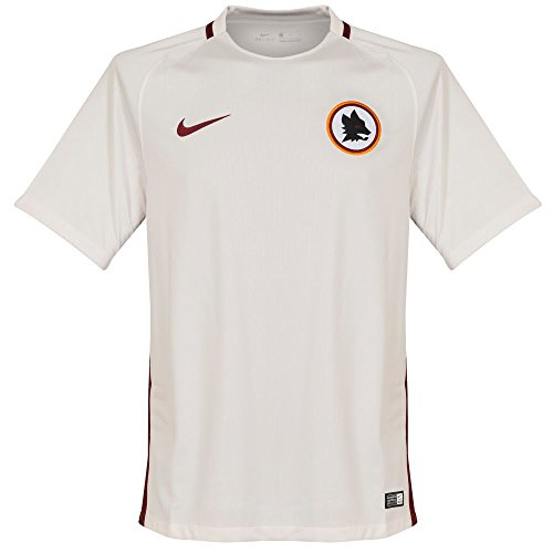 Nike AS Roma M Ss Aw Stadium Jsy-Maglietta a maniche corte, uomo, colore: bianco, UOMO, AS Roma M Ss Aw Stadium Jsy, Blanco (Phantom / Team Red / Team Red), XXL