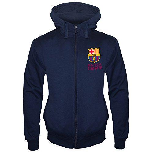 FC Barcelona - Herren Fleece-Sweatjacke - Offizielles Merchandise - Geschenk für Fußballfans...