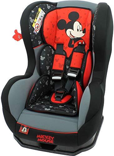 Disney Kindersitz Kinder Autositz Kinderautositz Autokindersitz Auto Rot Schwarz Gruppe 0/1 0-18 kg Geburt-4 Jahre 3 Positionen Verstellbar