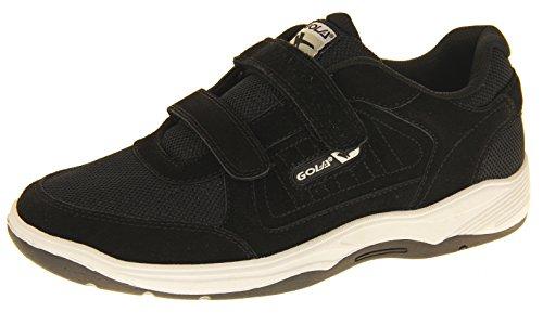 Gola Ama202 Belmont Hombre Zapatillas De Deporte Cuero Real de Gamuza Calzado Amplio Velcro Negro EU...