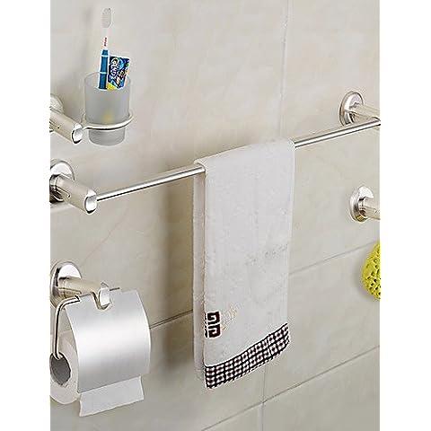 KHSKX Accesorios de baño Set acabado de plata, Soltero Ganchos para batas, platos individuales de jabón, Torre Anillos y WC titulares de papel