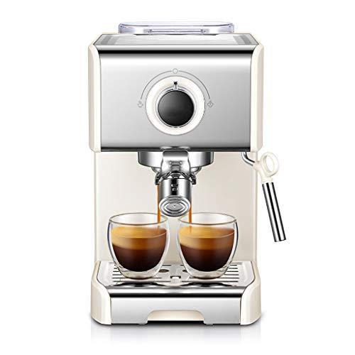 Lixin Kaffeemaschine 1250W Kleine Kaffeemaschine Italienische Halbautomatische Dampfmilchschaum...
