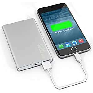 Batterie externe Deluxe Slim 4000 mAh argent – Power Bank - Batterie de secours nomade - Chargeur universel - Batterie Iphone - Powerbank – Recharge Smartphone - Lowdi®