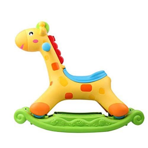 Y-Yaoyi Schaukelpferd Kinder Schaukeltier Plüsch Schaukel Pferd Baby Schaukelspielzeug Geschenk Für Kinder (Schaukel Hirsch)