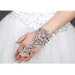 Diamond Bracelet Bride Bridal Wedding Accessory Hand Chains Band Wear Rhinestone Jewelry Dress Accessories