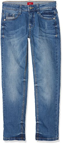 s.Oliver Jungen Jeans 61.802.71.3139, Blau (Blue Denim 55Z7), 140 (Herstellergröße: 140/BIG)