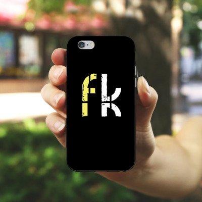 Apple iPhone X Silikon Hülle Case Schutzhülle Freekickerz Fanartikel Merchandise Fussball Silikon Case schwarz / weiß