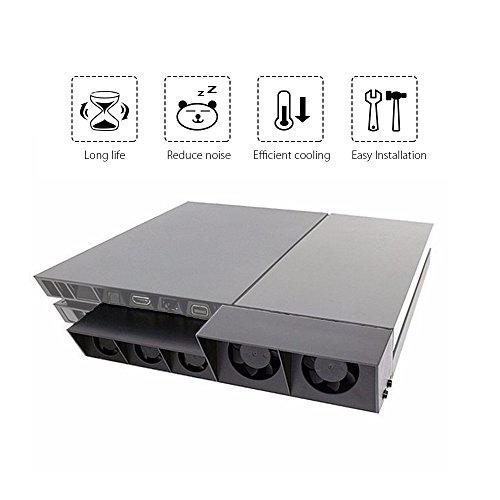 QUMOX PS4 super externe ventilateur de refroidissement - Turbo Cooler Noir pour Playstation 4