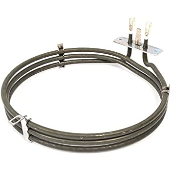 2500W, 230v SPARES2GO 3 Turn Heater Element for CDA Fan Oven Cooker