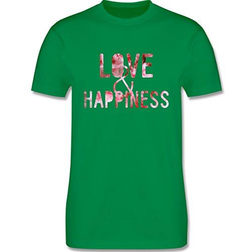Statement Shirts - Love & Happiness Pink - Herren Premium T-Shirt Grün