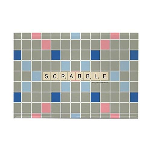 CafePress - Scrabble Tiles - rechteckiger Magnet, 5,1 x 7,6 cm Kühlschrankmagnet (Spielbrett Leben Größe)