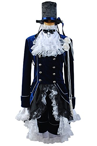 Black Butler Ciel Cosplay Kostüm Dark Blue Dress Damen M