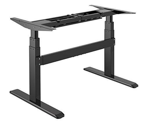 Exeta Elektrisch höhenverstellbarer Schreibtisch (Vers. 2019) mit 2 Motoren, 3-fach-Teleskop,Memory-Funkt./Softstart/-Stopp, elektrisch höhenverstellbares Tischgestell black für gängige Tischplatten -