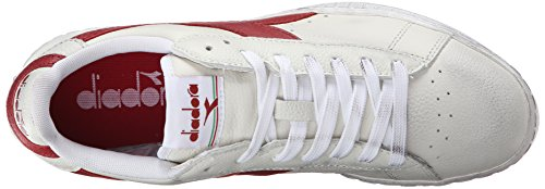 Diadora Unisex-Erwachsene Game L High Waxed Pumps Elfenbein (Bianco/rosso Peperone)
