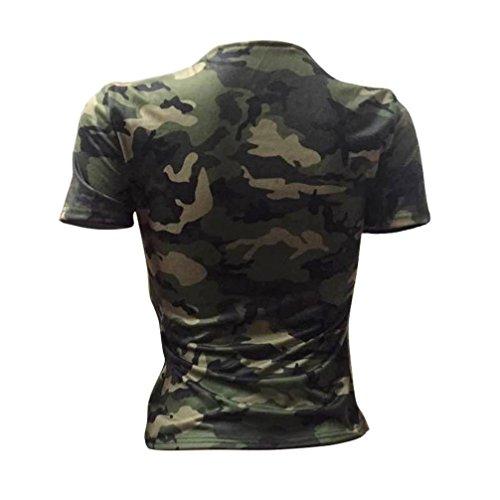 Jimmackey Donna Moda Casual Camicetta Mimetica Stampa Lunga Camicia Manica Camuffamento