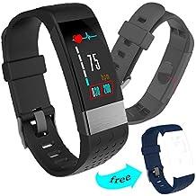 H-SON Monitor de ritmo cardíaco con medidor de presión arterial, pantalla de color
