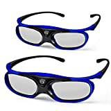 3D DLP Link Glasses, ELEPHAS 144Hz Rechargeable Active Shutter Eyewear for All 3D DLP-Link Projectors- Acer, ViewSonic, BenQ Vivitek, Optoma, Panasonic, Dell, Viewsonic etc (2 Pack)