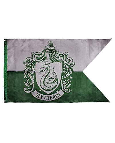 Kostüm Party Potter Harry Motto - Harry Potter Slytherin Flagge als Deko & Geschenk für Harry Potter Fans & Motto Parties