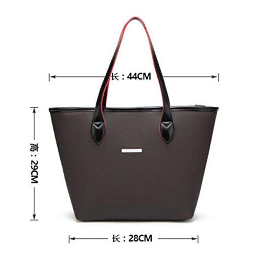 Nuova Borsa Della Locomotiva Della Signora Simple Bag Di Temperamento Messenger Semplice Della Spalla Big Bag Donna,Blue Black