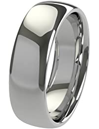 New Solid Platinum 950 3mm Heavy Court Shaped Comfort Fit Wedding Ring Band Available in All Sizes from H - Z+3 XeWFNA4M