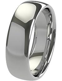 Nuevo sólido Argentium plateado 6mm Heavy Court de confort Fit Unisex anillo de boda banda disponibles en todos los tamaños de H–Z + 3| fabricado en el Reino Unido. & Hallmarked