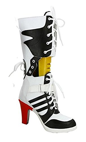 Tiny Time Damen Cosplay Schuhe Cosplay Kostüm Stiefel Boots Shoes, Weiß, EU 38
