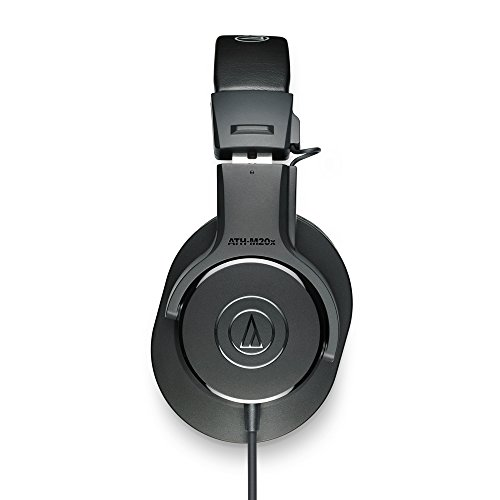Audio-Technica ATH-M20x Over-Ear Professional Studio Monitor Headphone  (Black)