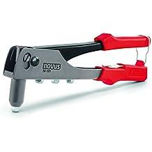 Remachadora Novus N-10, juego con 15 remaches ciegos de aluminio A2,5, A3, A4 y A5, muelle de retorno para el uso con una mano
