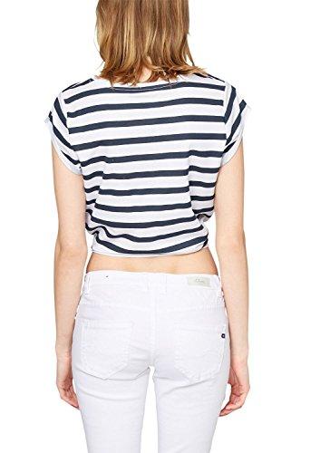 s.Oliver Denim Damen T-Shirt 41.504.32.2230, Gestreift Blau (night blue stripes 58G0)