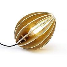 Lámpara fève roble natural