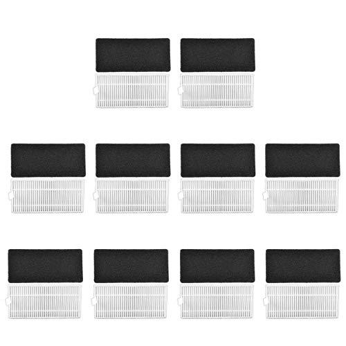 20 Pcs Filtros Hepa para Cecotec Conga Excellence 990 Robot Aspiradora y DEEBOT N79S, Material Premium, Accesorio de Reemplazo para Conga Excellence 990 y DEEBOT N79S, Incluye 10 filtros Hepa + 10 filtros de espuma, Pack Familiar por KEEPOW