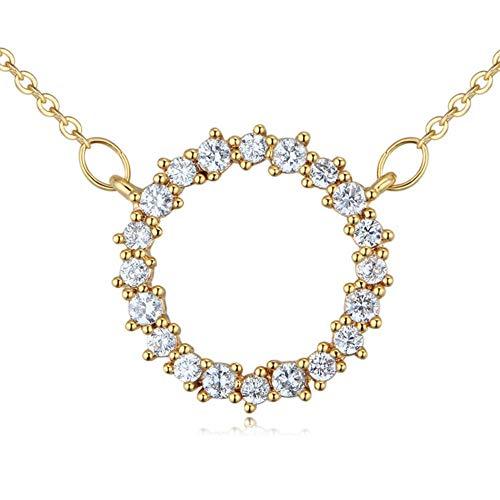 Halskette Buchstabe O Mode einfache Mädchen Schlüsselbein Anhänger 1,6 cm * 1,6 cm, Rose Gold