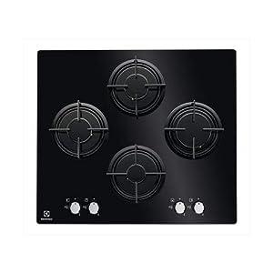 Electrolux EGG6445K hobs Integrado Encimera de gas Negro – Placa (Integrado, Encimera de gas, Vidrio, Negro, Giratorio…