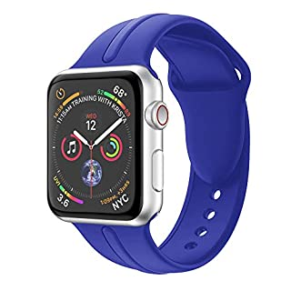 Watches Digital, Replacement Sports Soft Silicone Watch Band Strap for Apple Watch Series 4 44MM