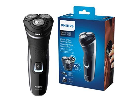 Philips Serie 1000 S1332/41 - Afeitadora Eléctrica para Hombre con cuchillas PowerCut, cortapatillas...
