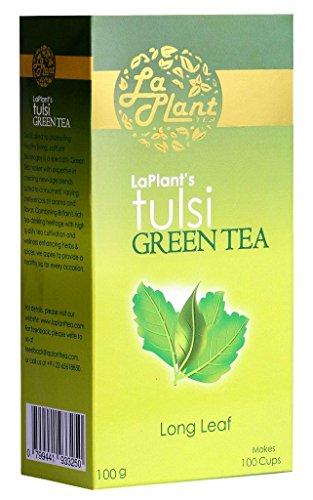 Laplant Tulsi Green Tea, Long Leaf, 100g