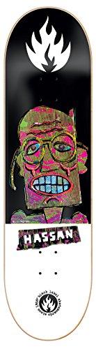 Black Label Omar Hassan Panic Attack Tablett-Skate für Skateboard Unisex Erwachsene, Mehrfarbig, 8.38x 32,5cm (Black Label Deck)