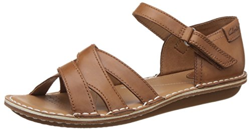 Clarks Tustin Sahara, Damen Knöchelriemchen Sandalen, Braun (Tan Leather), 38 EU (5 Damen UK)