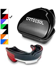 arteesol Mouth Guard/Gum Shield for Adult and Junior Boxing, Rugby, Honkey, Judo and Other Contact Sports (with Carry Case)