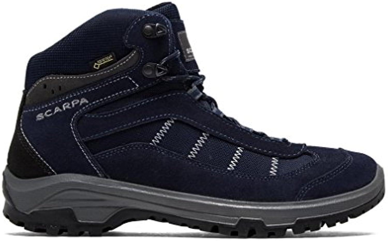 Scarpa Bora Gore-Tex Botas para caminar Hombre Senderismo Trail Shoes Navy, Azul Marino, 42.5