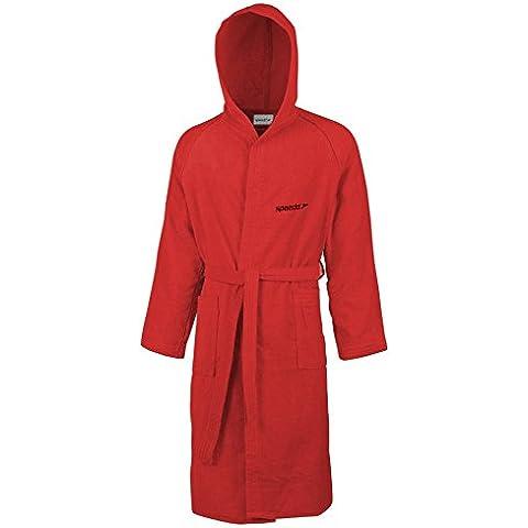 Speedo Microfibra Basica Adult Accappatoio Unisex, Rosso (Rosso), XL