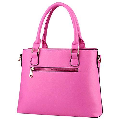 MissFox Borsa A Spalla Donna Borse A Mano Borsa Messenger Donna Cerniera Design Rose