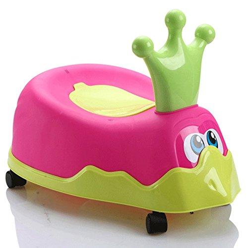Potty Chair 3 En 1 Potty Chair Pour Les Garçons Fun Girls Baby Trainer Toilet Trainer Siège D'entraînement à L'escabeau Pièces Amovibles Et Portable Facile à Nettoyer Meilleur Fo Toddlers,Pink Meirong