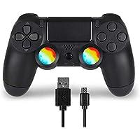 Juego Game Controller for PS4, Controller Wireless per Playstation 4 con Joystick di Gioco a Doppia Vibrazione, Nero…