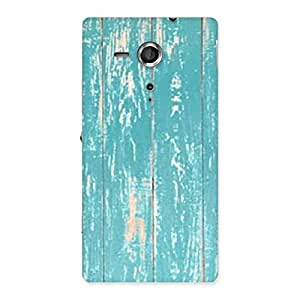 CyanBlue Bar Texture Back Case Cover for Sony Xperia SP