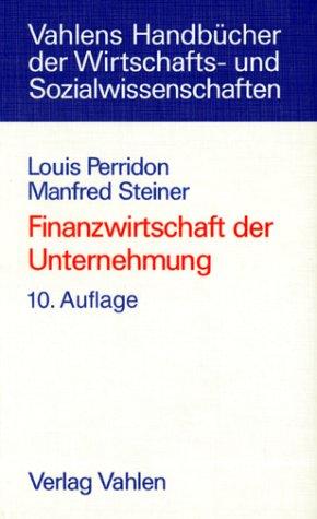 Vahlen Franz GmbH Finanzwirtschaft der Unternehmung